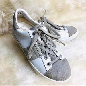 SAM Edelman white tan sneakers, size 6